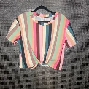 Love, Fire Knot Front Shirt Multi